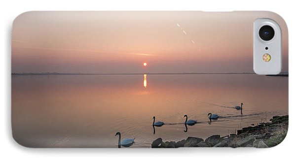 Five Swans At Dawn IPhone Case