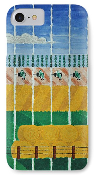 Five Tractors IPhone Case