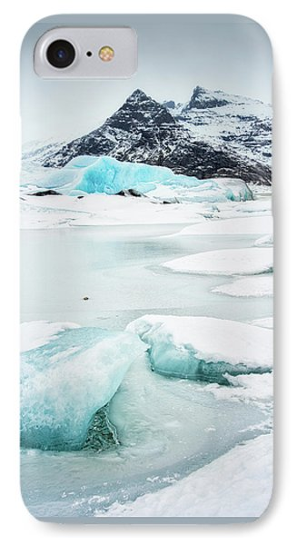 IPhone Case featuring the photograph Fjallsarlon Glacier Lagoon Iceland In Winter by Matthias Hauser