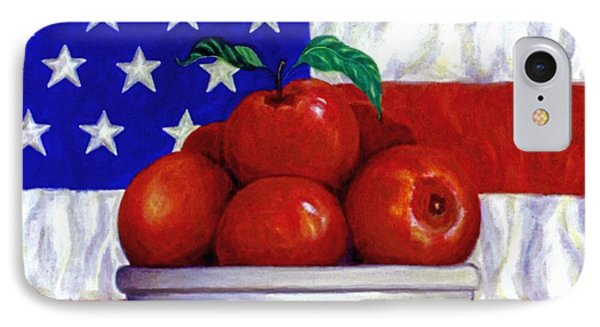 Flag And Apples Phone Case by Linda Mears