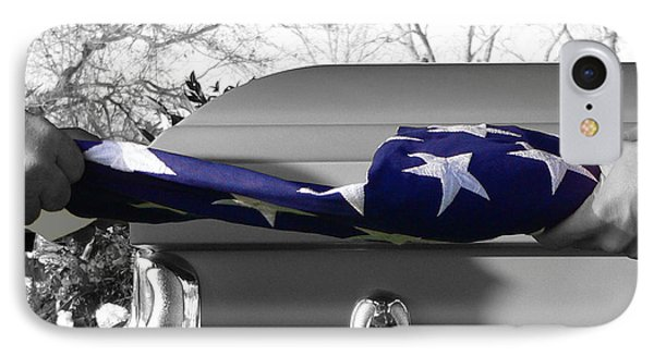 Flag For The Fallen - Selective Color IPhone Case by Al Powell Photography USA