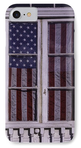 Flag In New Orleans Window IPhone Case