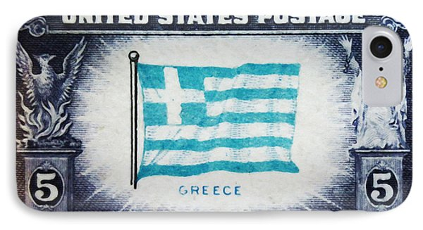 Flag Of Greece IPhone Case by Lanjee Chee