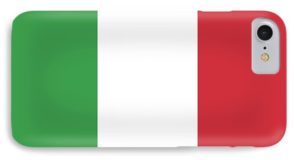 IPhone Case featuring the digital art Flag Of Italy by Bruce Stanfield