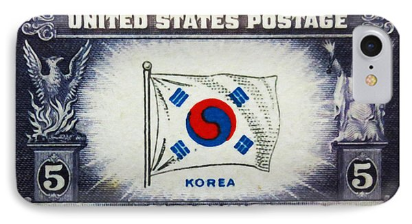 Flag Of Korea IPhone Case by Lanjee Chee