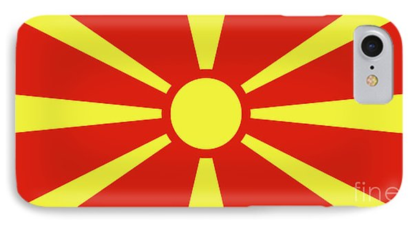 IPhone Case featuring the digital art Flag Of Macedonia by Bruce Stanfield