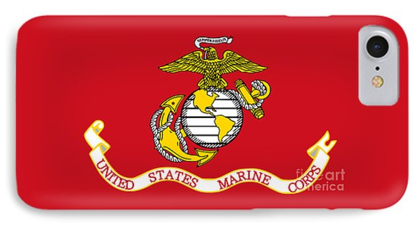 Flag Of The United States Marine Corps IPhone Case by Pg Reproductions