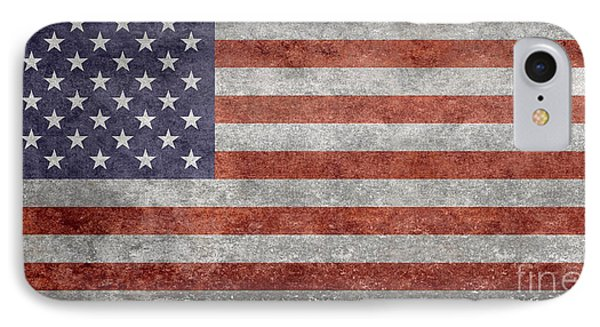 Flag Of The United States Of America  Vintage Retro Version IPhone Case by Bruce Stanfield