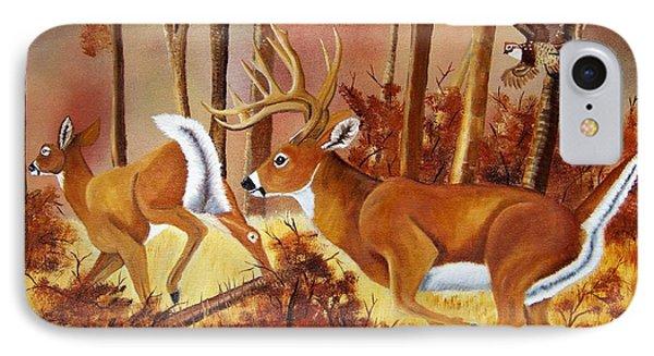 Flagging Deer Phone Case by Debbie LaFrance