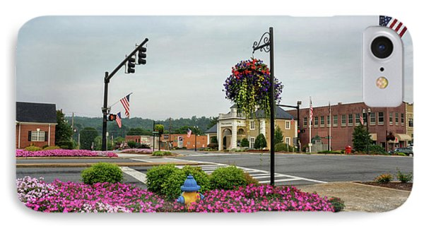 Flags And Flowers In Murphy North Carolina IPhone Case