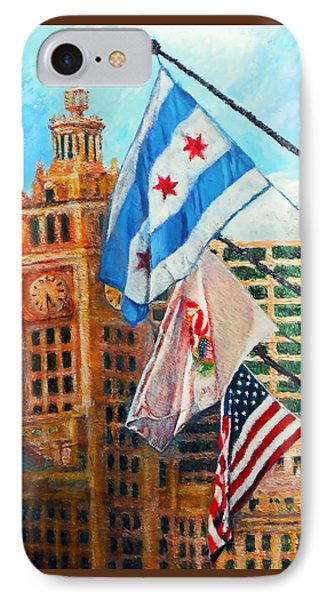 Flags Over Wrigley IPhone Case