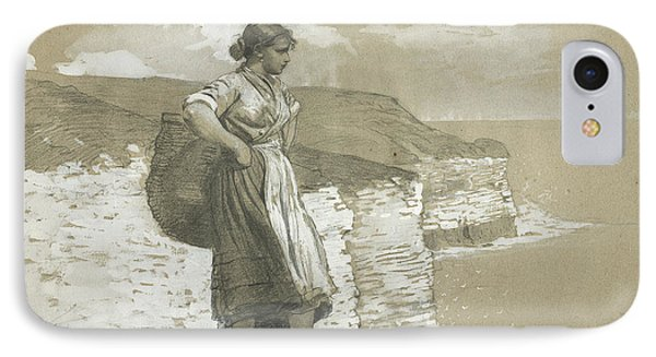 Flamborough Head, England IPhone Case by Winslow Homer
