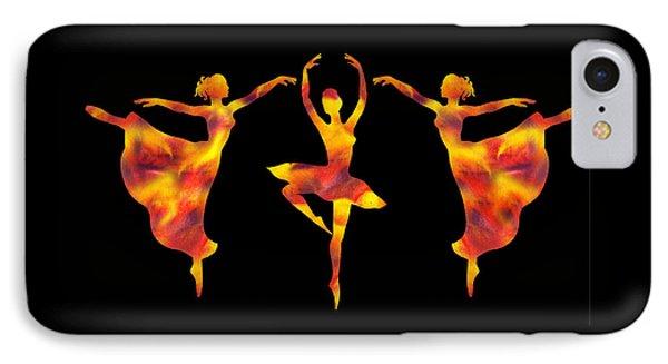 Flamboyant Trio Dance IPhone Case