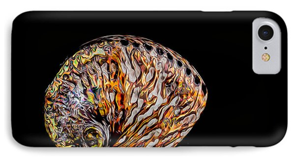 IPhone Case featuring the photograph Flame Abalone by Rikk Flohr