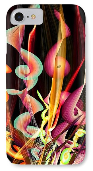 IPhone Case featuring the digital art Flame By Nico Bielow by Nico Bielow