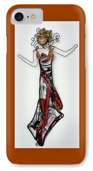 Flame Dancer Phone Case by Maxine Grossman