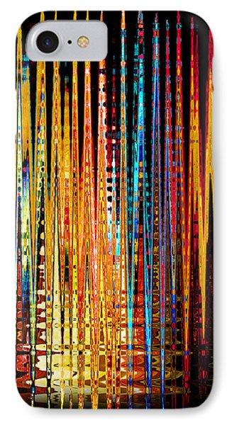 IPhone Case featuring the digital art Flame Lines by Francesa Miller