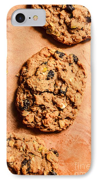 Flame Raisin And Coconut Cookies IPhone Case by Jorgo Photography - Wall Art Gallery