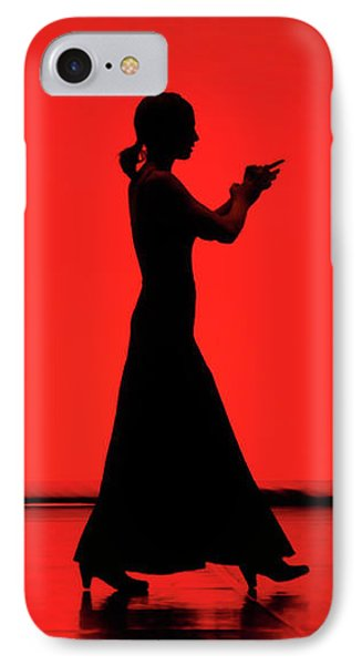 Flamenco Red An Black Spanish Passion For Dance And Rithm IPhone Case