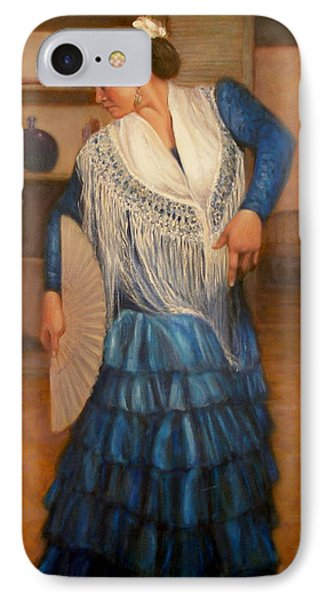 IPhone Case featuring the painting Flamenco 2 by Donelli  DiMaria