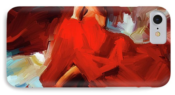 IPhone Case featuring the painting Flamenco Dance 7750 by Gull G