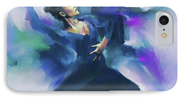 Flamenco Dance Art 67h IPhone Case by Gull G
