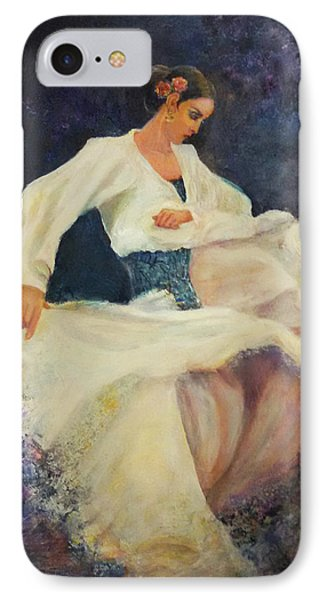 Flamenco In White IPhone Case