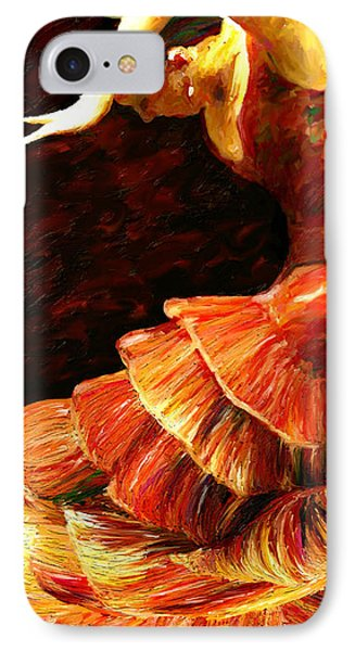 IPhone Case featuring the painting Flamenco Poise 2 by James Shepherd