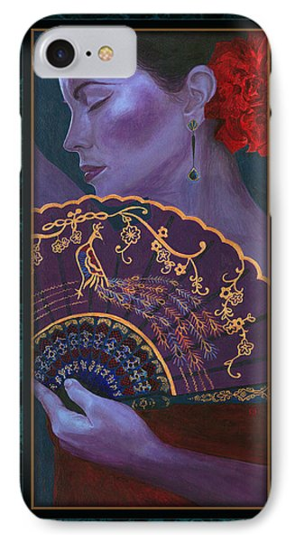 IPhone Case featuring the painting Flamenco  by Ragen Mendenhall
