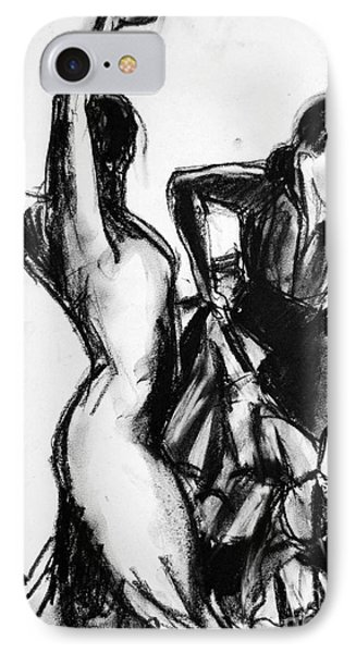 Flamenco Sketch 1 IPhone Case