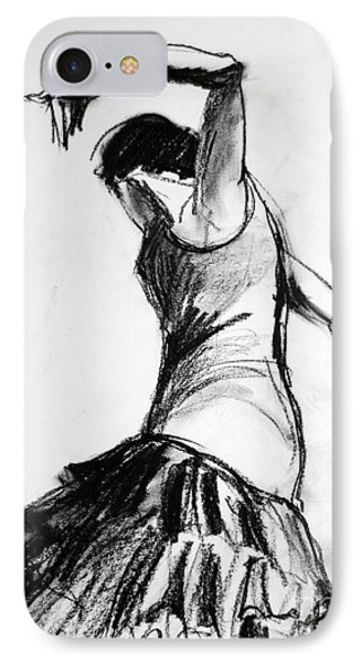 Flamenco Sketch 2 IPhone Case by Mona Edulesco