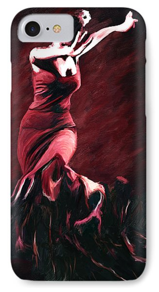 Flamenco Swirl IPhone Case