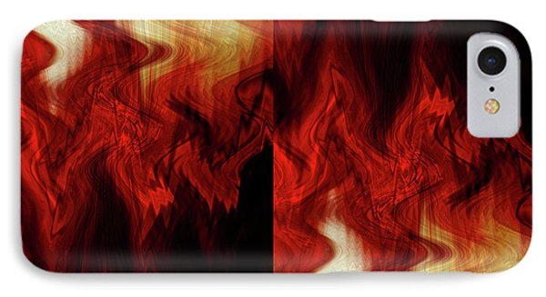 IPhone Case featuring the digital art Flames by Cherie Duran