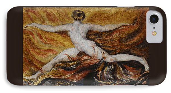 Flames Of Furious Desires IPhone Case by William Blake