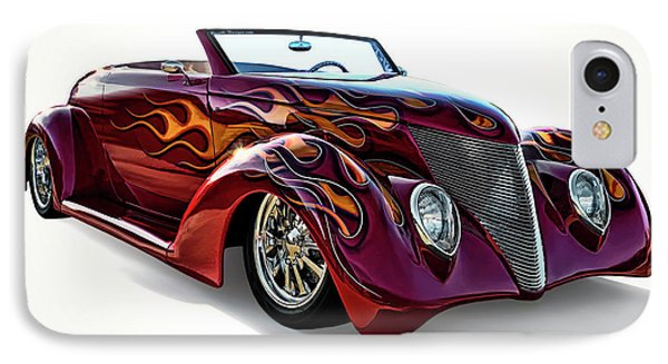 Flamin' Red Roadster IPhone Case by Douglas Pittman
