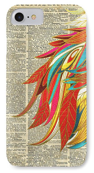 Flaming Colourful Feathers IPhone Case by Jacob Kuch