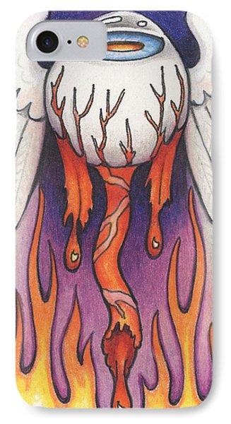 Flaming Flying Eyeball IPhone Case