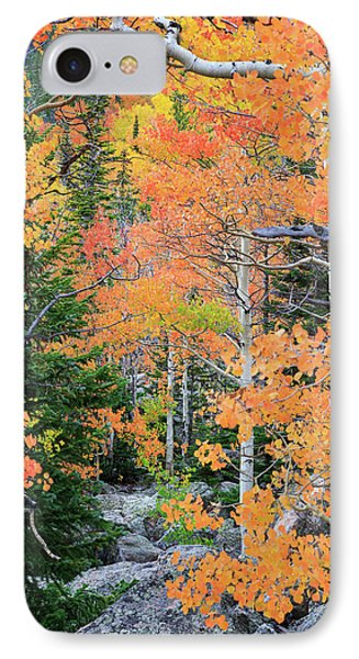 Flaming Forest IPhone 7 Case by David Chandler