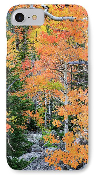 IPhone 7 Case featuring the photograph Flaming Forest by David Chandler