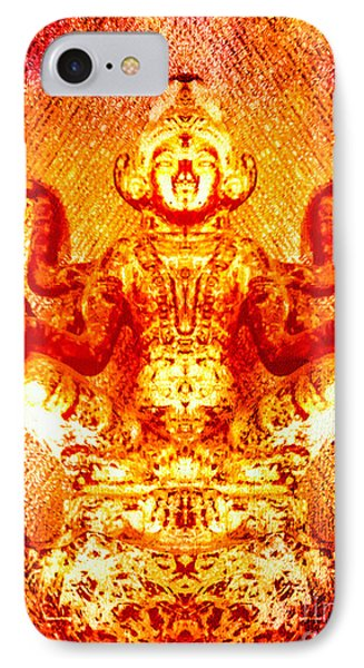 Flaming Golden Goddess IPhone Case by Heather Joyce Morrill