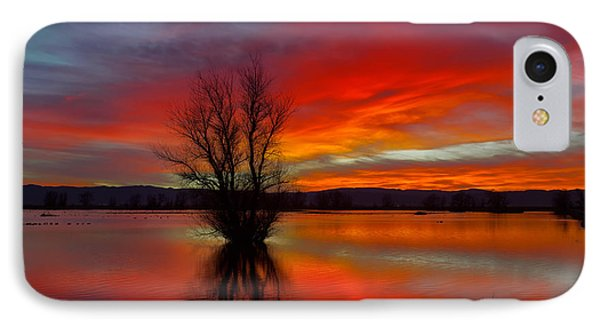 Flaming Reflections IPhone Case