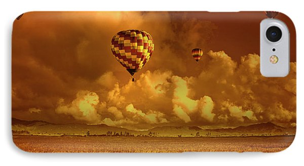 IPhone Case featuring the photograph Flaming Sky by Charuhas Images