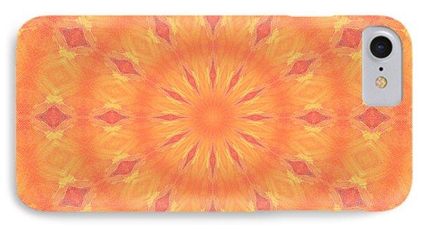 IPhone Case featuring the digital art Flaming Sun by Elizabeth Lock