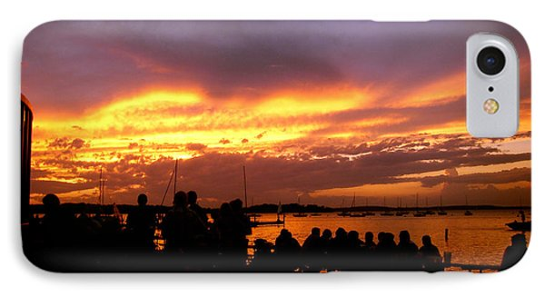 Flaming Sunset IPhone Case by Zafer Gurel