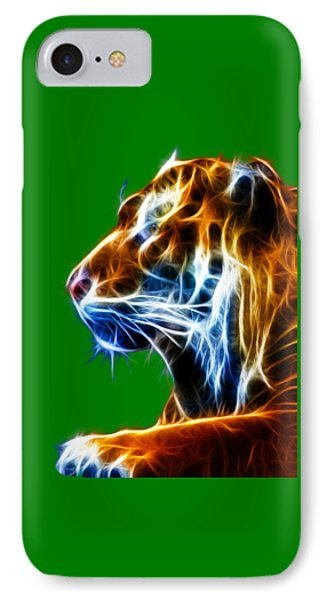 Flaming Tiger Phone Case by Shane Bechler