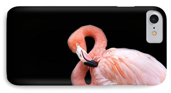 Flamingo 3 IPhone Case by Rebecca Cozart