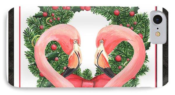 Flamingo Amore 1 IPhone Case by Debbie DeWitt