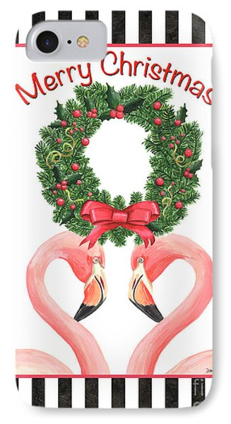 Flamingo Amore 3 IPhone Case by Debbie DeWitt