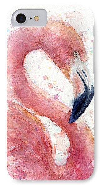 Flamingo - Facing Right IPhone 7 Case
