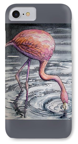 Flamingo Fishing  II IPhone Case